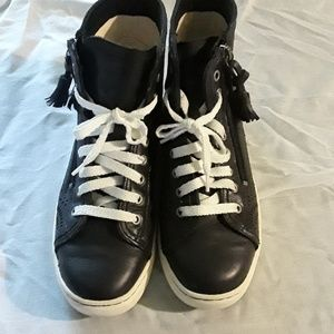 Ugg black & white high top sneakers. Super comfy